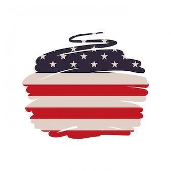 Bandeira dos estados unidos isolada
