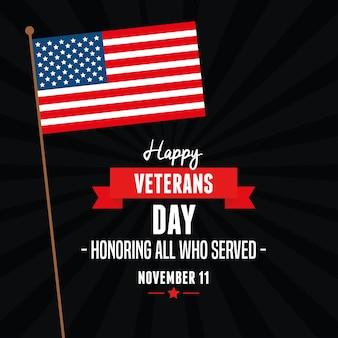 Bandeira dos estados unidos no dia dos veteranos
