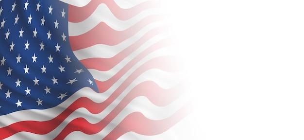 Bandeira dos eua com espaço de cópia, dia independente de 4 de julho, ilustração vetorial