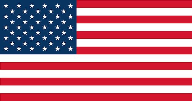 Bandeira dos eua - cores e proporções originais. ilustração em vetor estados unidos eps 10.