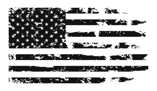 Bandeira dos eua - cores e proporções originais. shabby flag vector illustration eps 10.