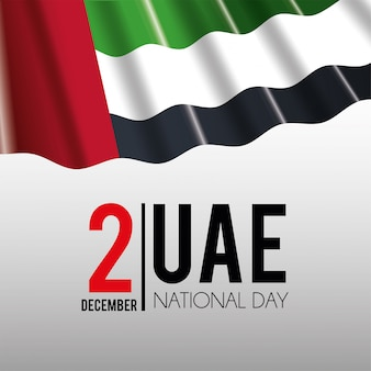 Bandeira dos uae para comemorar o dia nacional patriótico