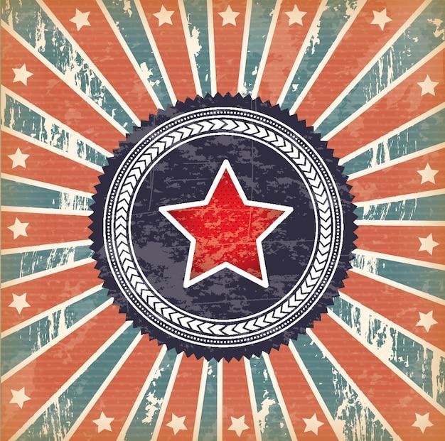 Bandeira e estrela