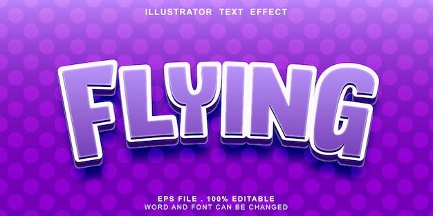 Bandeira editável de efeito de texto de logotipo voador