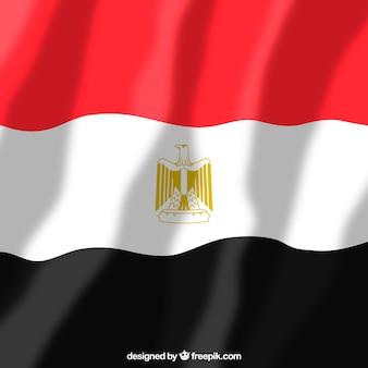 Bandeira egípcia elegante com design plano