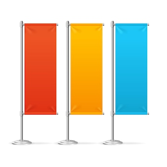 Bandeira em branco sinaliza conjunto colorido para designers.
