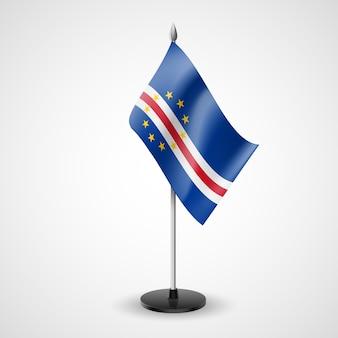 Bandeira estatal de mesa de cabo verde