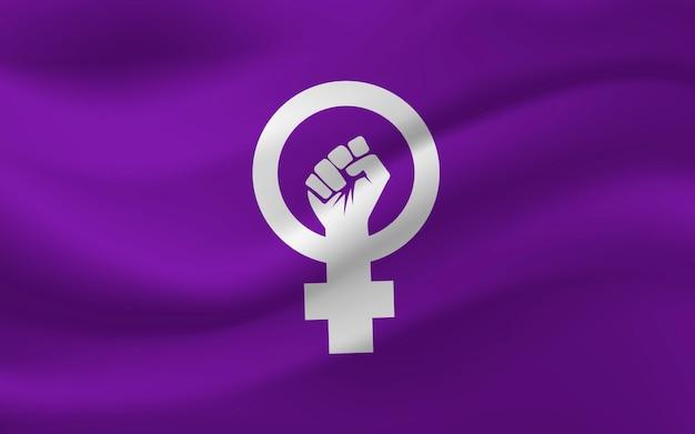 Bandeira feminista realista