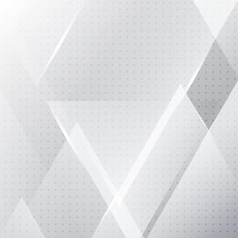 Bandeira geométrica branca e cinza abstrata