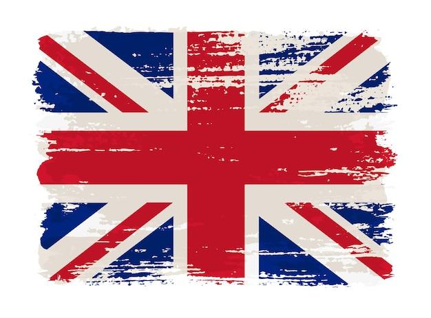 Bandeira grunge do reino unido