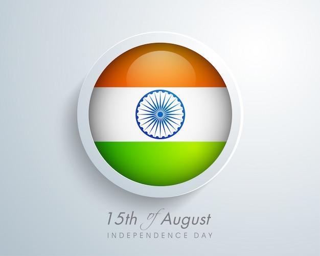 Bandeira indiana brilhante para a celebração do dia da independência.