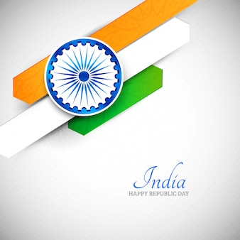 Bandeira indiana criativa abstrata de fundo vector