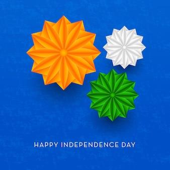 Bandeira indiana feliz dia da independência, 15 de agosto