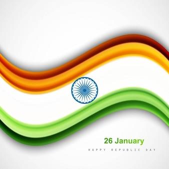 Bandeira indiana ondulado à moda