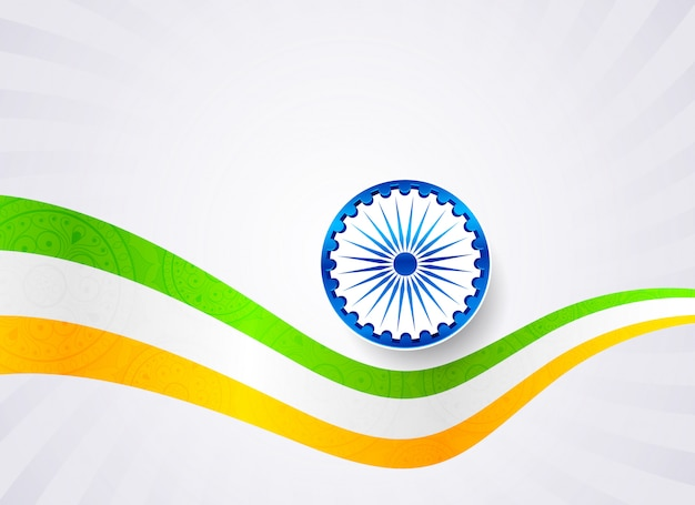 Bandeira indiana tricolor ondulada
