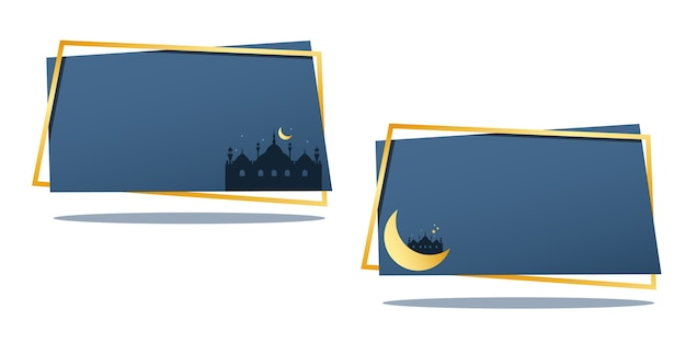 Bandeira islâmica de eid mubarak