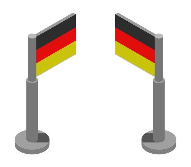 Bandeira isométrica da alemanha
