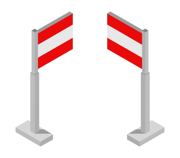 Bandeira isométrica da áustria