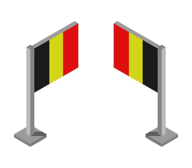 Bandeira isométrica da bélgica