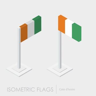Bandeira isométrica da costa do marfim