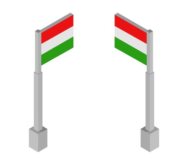 Bandeira isométrica da hungria