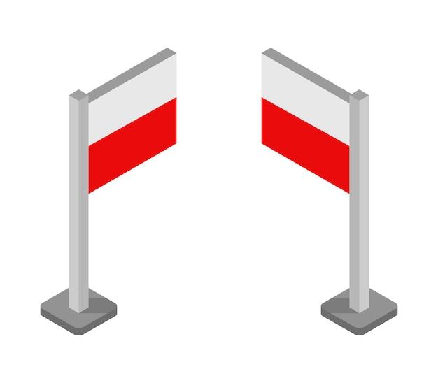 Bandeira isométrica da polônia