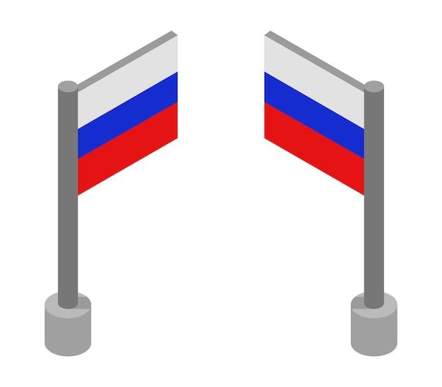 Bandeira isométrica da rússia