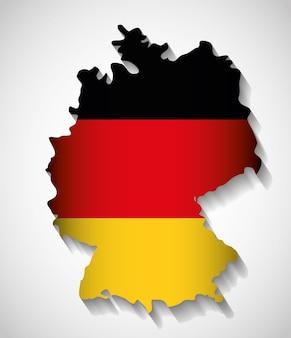 Bandeira mapa ícone preto vermelho amarelo