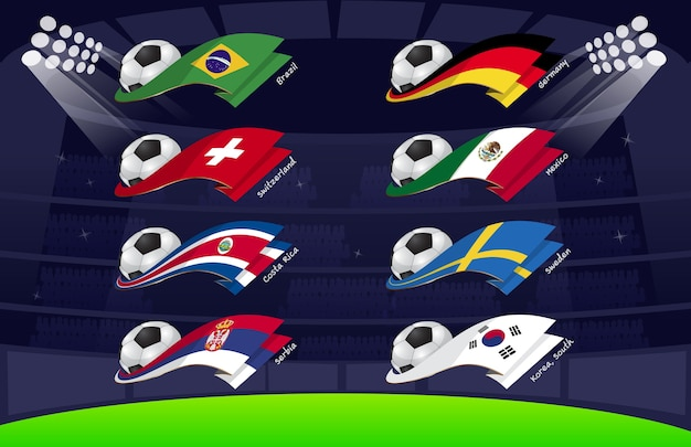 Bandeira mundo futebol 2018 vol3