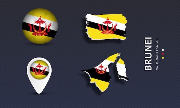 Bandeira nacional de ondulação do brunei