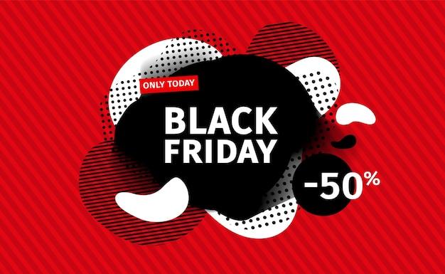 Bandeira negra de venda sexta-feira.