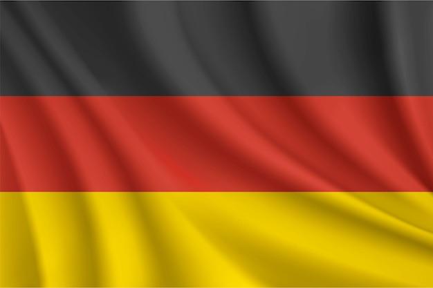 Bandeira ondulada da alemanha
