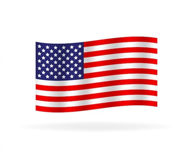 Bandeira original e simples do estado unido de américa.