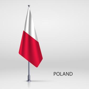 Bandeira pendurada no modelo do mastro