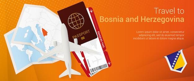 Bandeira popunder da viagem para a bósnia e herzegovina