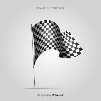 Bandeira quadriculada clássica com design realista