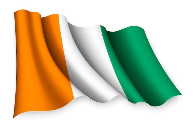 Bandeira realista da costa do marfim