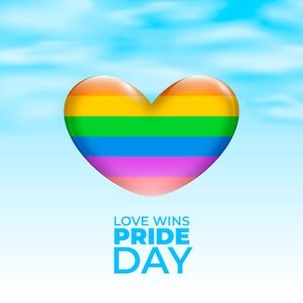 Bandeira realista de celebração do dia do orgulho