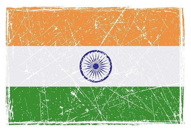 Bandeira riscada do grunge da índia