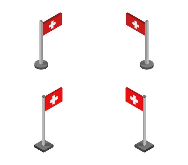 Bandeira suíça isométrica