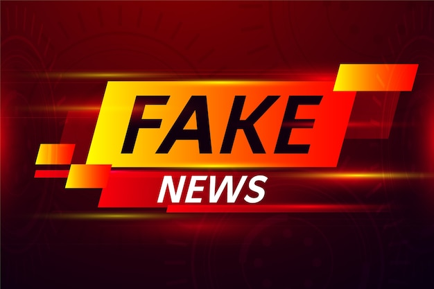 Bandeira vermelha de notícias falsas
