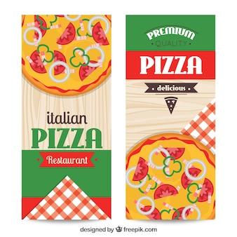 Bandeiras ajustadas de restaurante italiano