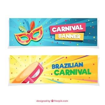Bandeiras carnival colorido Vetor Premium