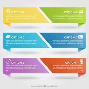 Bandeiras coloridas infográfico