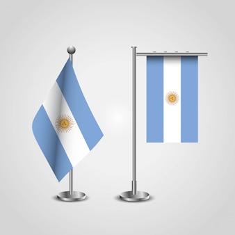 Bandeiras da argentina projeto vector