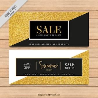 Bandeiras da venda dourado abstrato