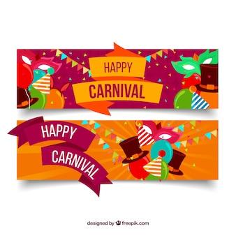 Bandeiras de carnaval planas