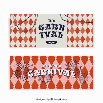 Bandeiras de carnaval vintage