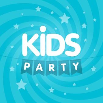 Bandeiras de carta de festa de crianças