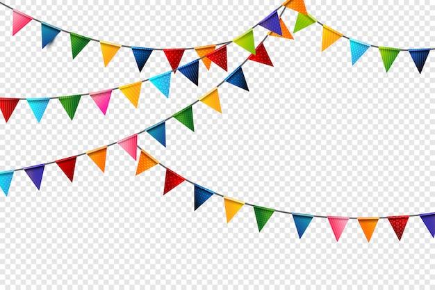 Bandeiras de celebração colorido arco-íris